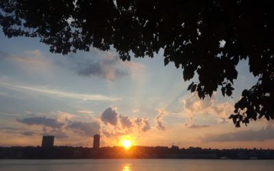 KEEP TALKING | An Offering by Linda Larson: Sunset over Hudson and Steiner's Verse